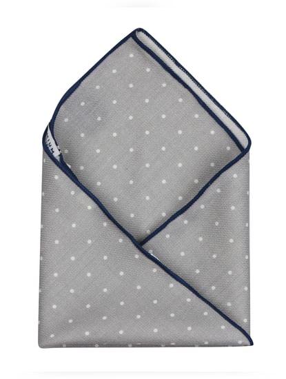Grey Pocket Square