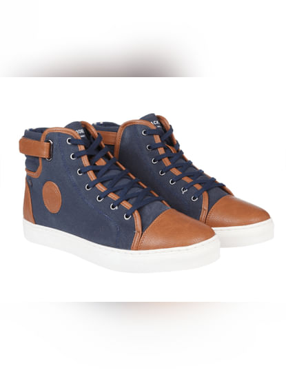 Blue Two Toned High Top Sneakers