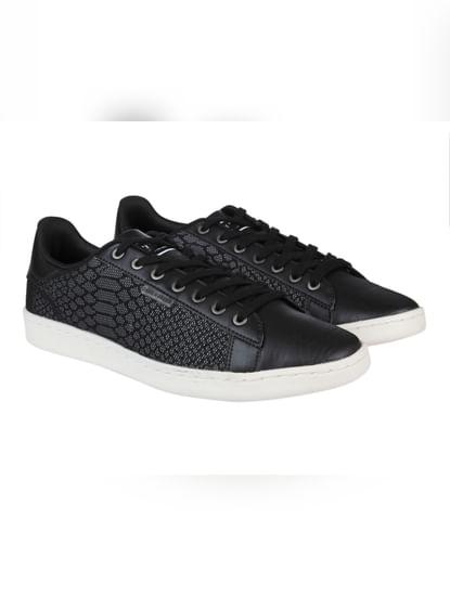 Black Print Sneakers