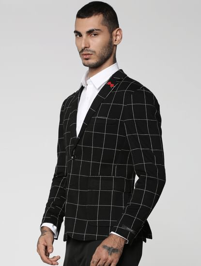 Black Check Waistcoat