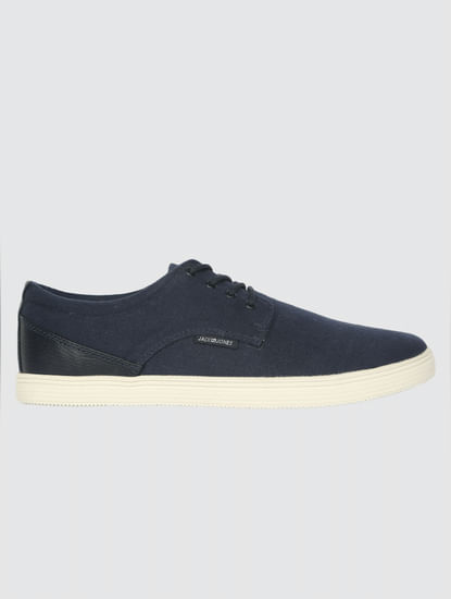 Navy Blue Lace Up Sneakers