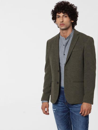 Grey Mandarin Collar Full Sleeves Shirt