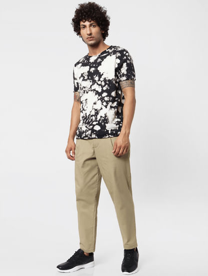 Brown Mid Rise Pants