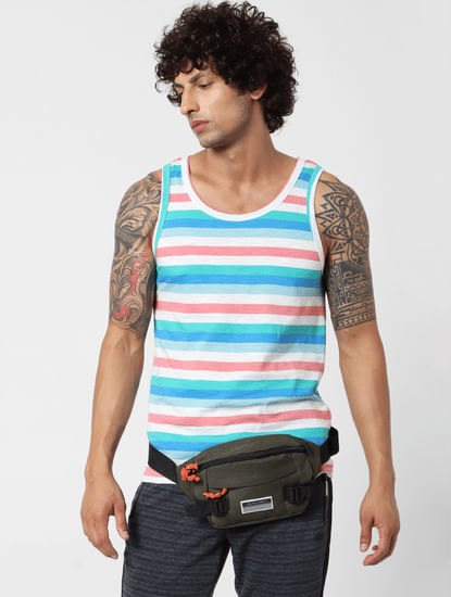Multi-coloured Striped Vest