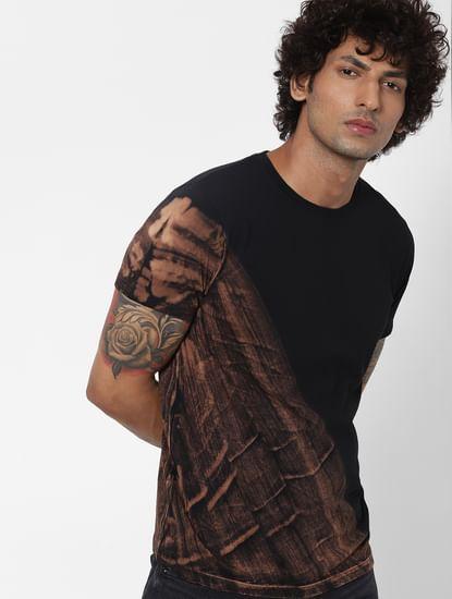 Black Tie Dye Crew Neck T-shirt