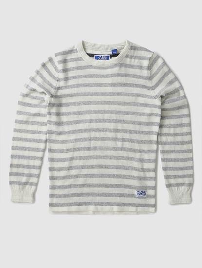 Boys Boys White Striped Pullover