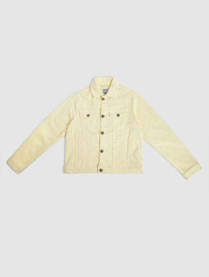 Boys Yellow Denim Jacket