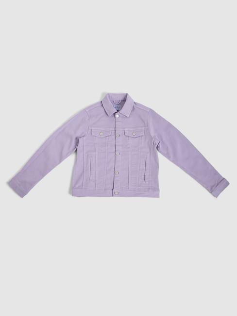 Boys Purple Denim Jacket