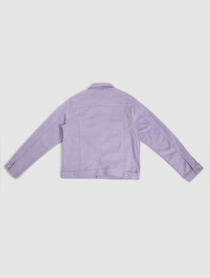 Junior Purple Denim Jacket