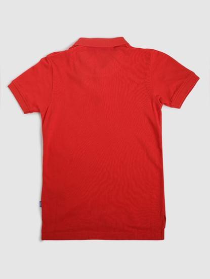Junior Red Polo Neck T-shirt
