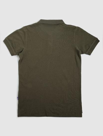 Boys Green Polo Neck T-shirt