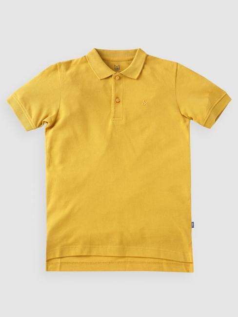 Boys Yellow Polo Neck T-shirt