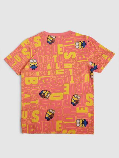 Junior X Minions Pink Crew Neck T-shirt