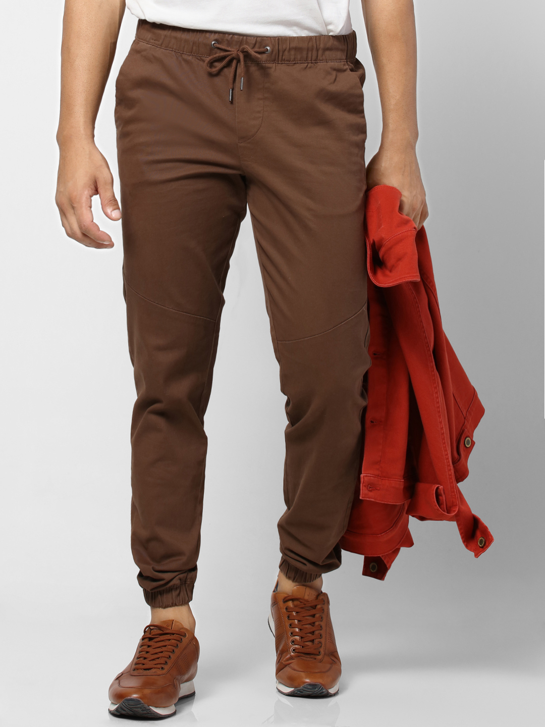 Dark Brown Drawstring Joggers