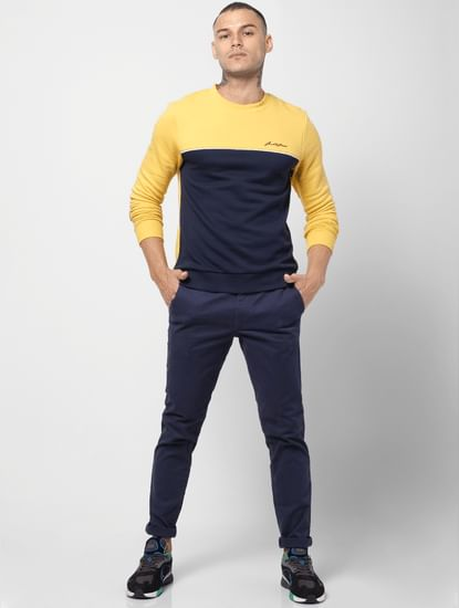 Yellow Colourblocked Sweatshirt