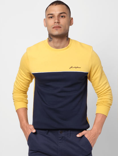 Yellow Colourblocked Sweatshirt