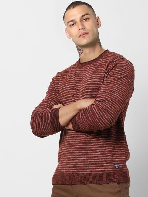 Rust Striped Pullover