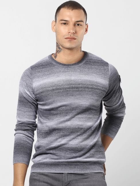 Grey All Over Print Pullover