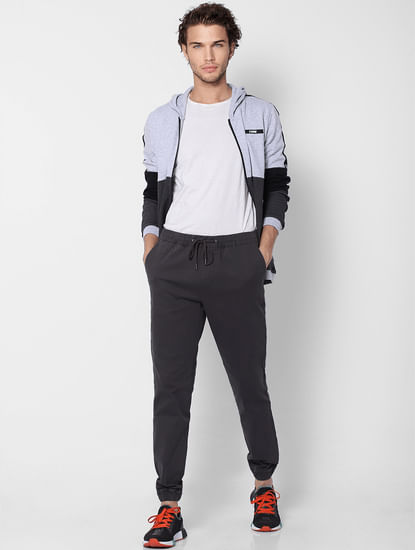 Dark Grey Low Rise Drawstring Joggers
