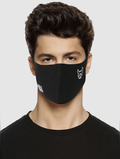 PACK OF 3 LOGO PRINT SEAMLESS 2PLY MASK