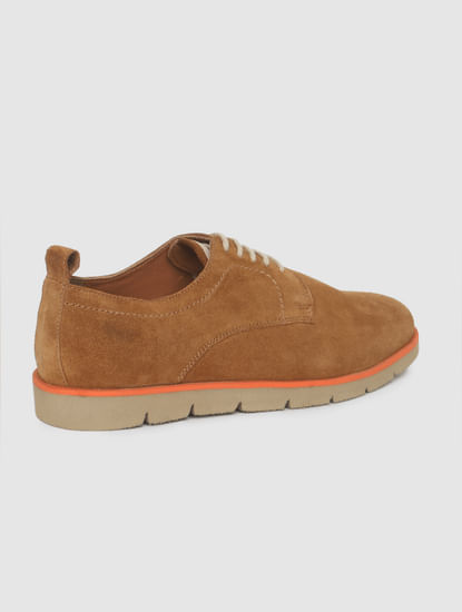 Tan Suede Formal Shoes