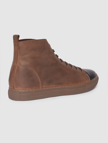 Brown Hi-Top Leather Boots