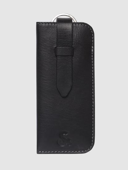 Black Leather Eyewear Case