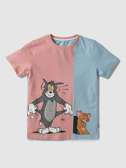 Junior X Tom & Jerry Colourblocked Crew Neck T-shirt