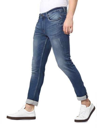Blue Mid Rise Ben Skinny Jeans