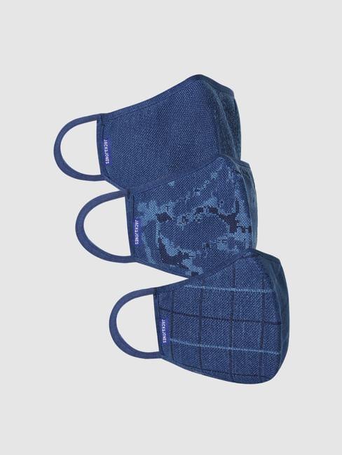 Pack of 3 Indigo Dyed 3PLY Mask