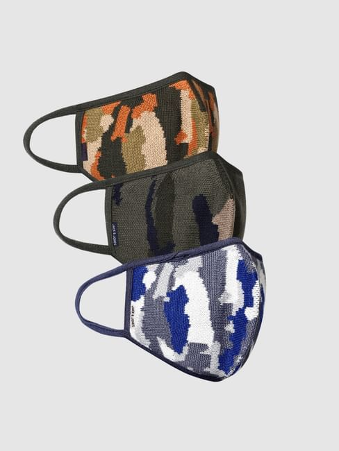Pack of 3 Camo Print Knit 3PLY Mask