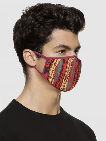 Pack of 3 Abstract Print Knit 3PLY Mask