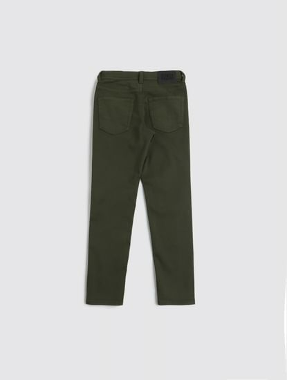 Junior Olive Low Rise Glenn Slim Fit Jeans