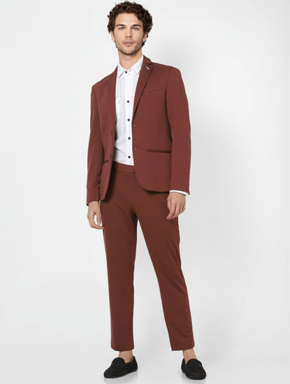 Rum Raisin Slim Fit Blazer