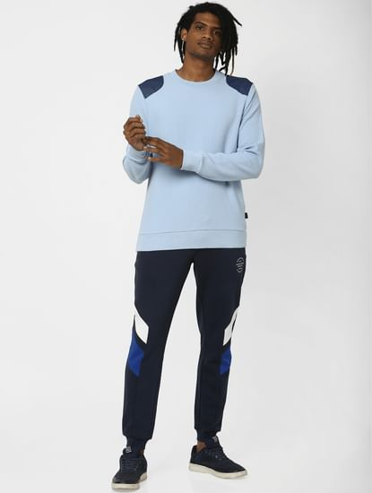 Cashmere Blue Textured Sweatshirt
