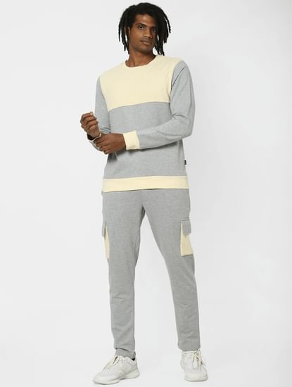 Grey Colourblocked Sweatshirt