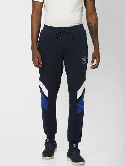 Navy Colourblocked  Sweatpants