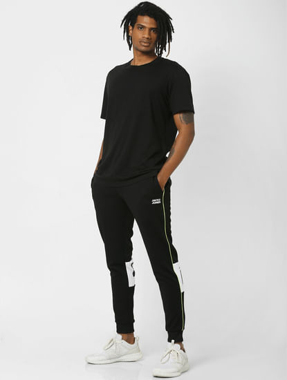 Black Logo Print Sweatpants