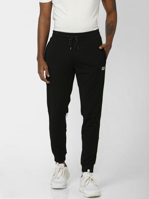 Black Logo Print Sweatpants