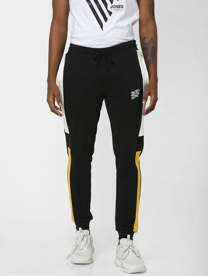 Black Colourblocked Sweatpants