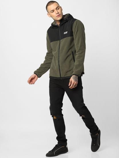 Green Hooded Fleece Jacket