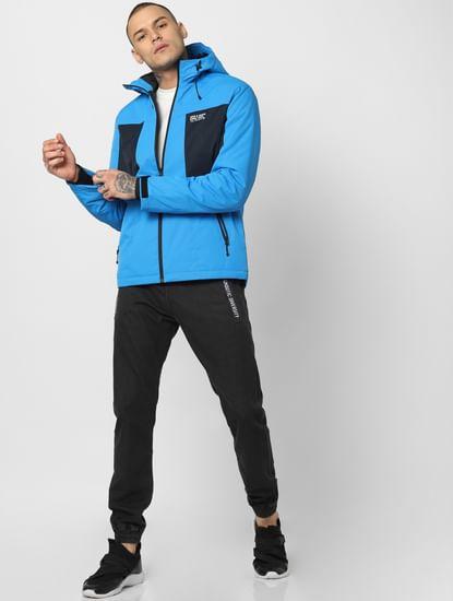 Blue Zip Up Hooded Jacket