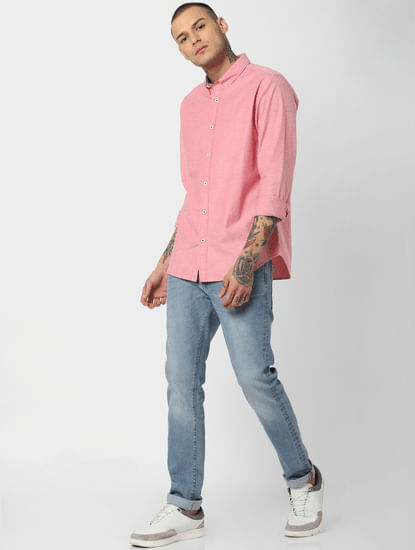 Pink Full Sleeves Shirt