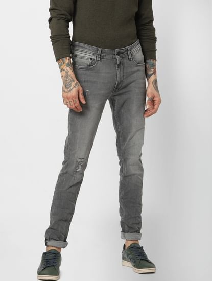 Grey Low Rise Ben Slim Fit Jeans