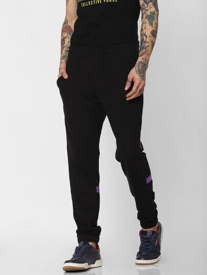 Black Tape Detail Sweatpants