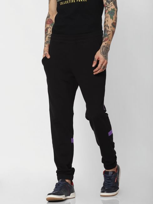 Black Tape Detail Sweatpants