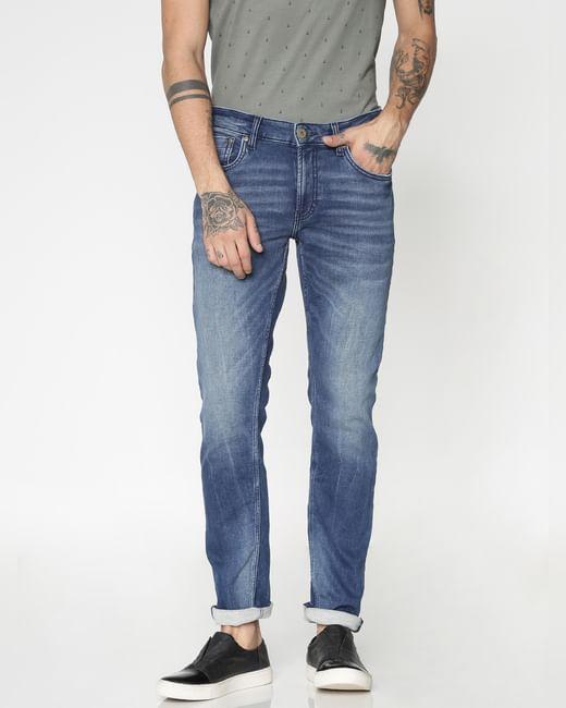 Blue Washed Ben Slim Fit Jeans