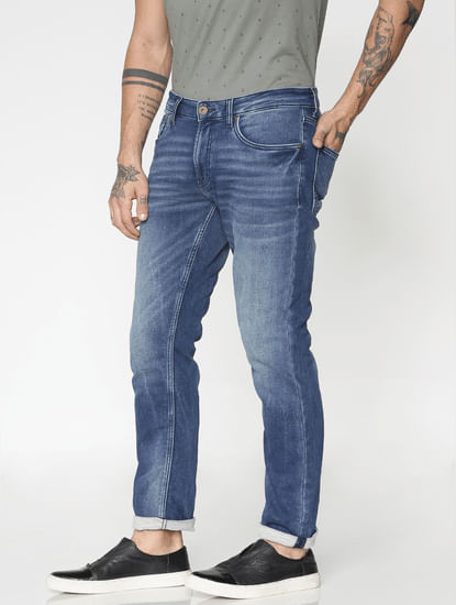 Blue Washed Ben Slim Fit Jeans