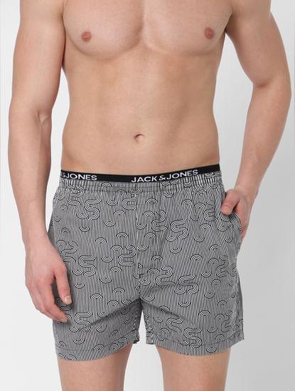 Grey Striped Boxers