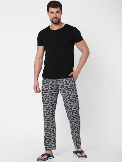 Black All Over Print Pyjama